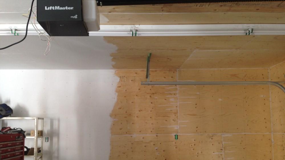 Plywood Garage Wall